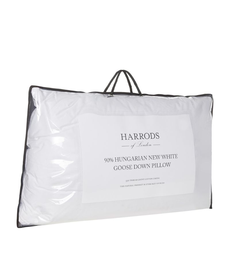 Harrods Of London Soft 90% Hungarian Goose Down Pillow