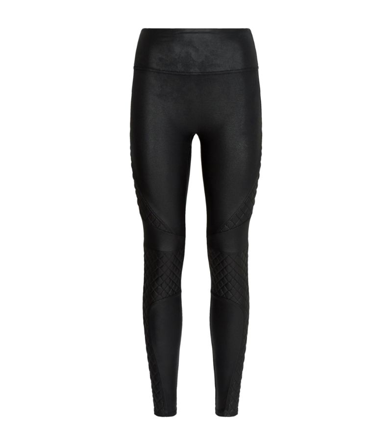 Spanx Quilted Knee Faux Leather Leggings