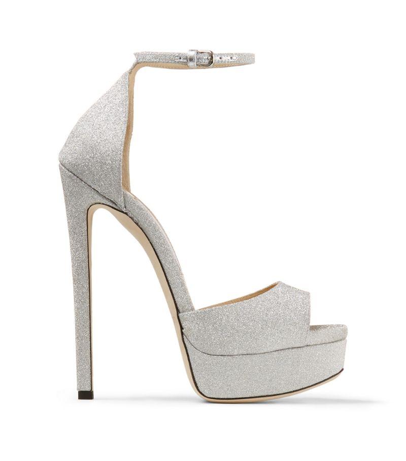 Jimmy Choo Max 150 Glitter Sandals