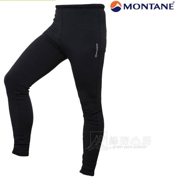Montane 英國 男款 彈性P.S保暖褲 登山內層褲 刷毛褲 滑雪 冬季健行 運動 黑 MPUPR-BLA 綠野山房