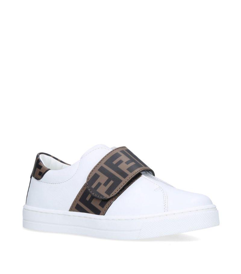 Fendi Kids Ff Velcro Slip-On Sneakers