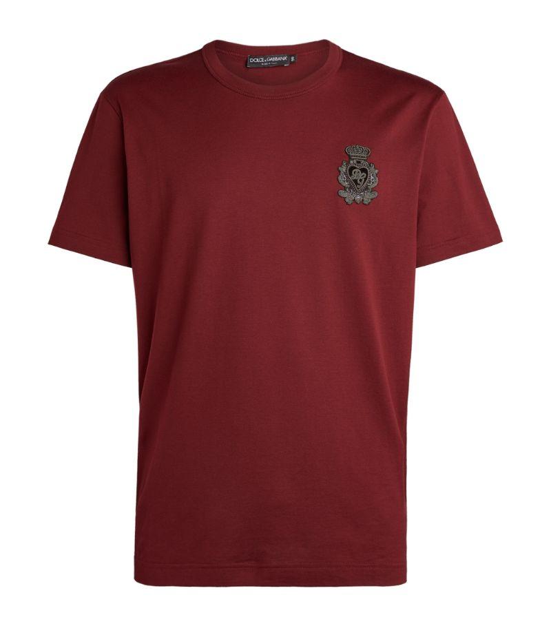 Dolce & Gabbana Cotton Logo-Plaque T-Shirt