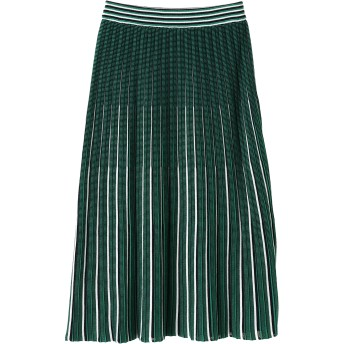 BRAHMIN ブラーミン トリコロールプリーツ スカート ロング・マキシ丈スカート,グリーン