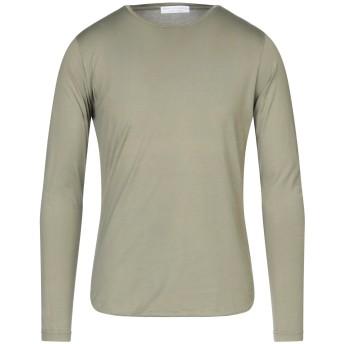 《セール開催中》FILIPPO DE LAURENTIIS メンズ T シャツ ミリタリーグリーン 48 コットン 100%
