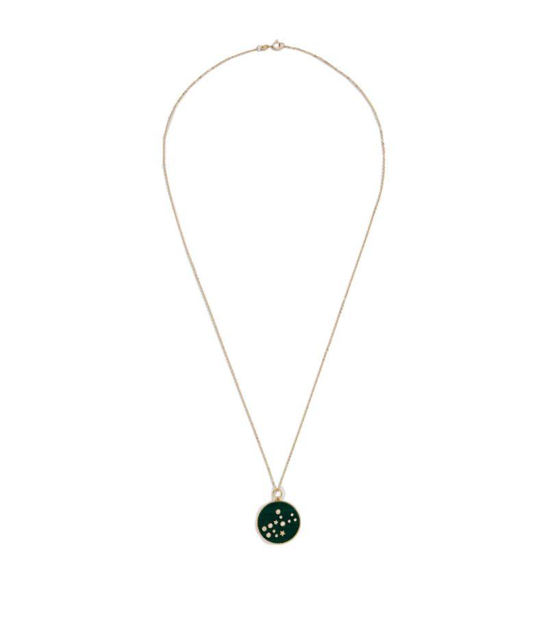 L'Atelier Nawbar Yellow Gold And Diamond Cosmic Love Virgo Necklace