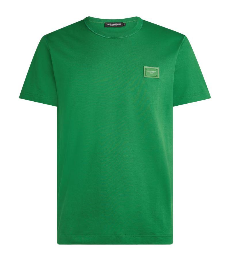 Dolce & Gabbana Cotton Logo Plaque T-Shirt