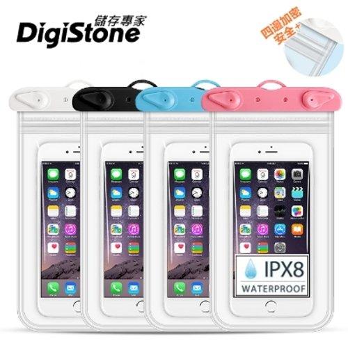 DigiStone 手機防水袋/可觸控(四邊雙層加強型)通用6.2吋以下手機x1★防水IPX8認證★