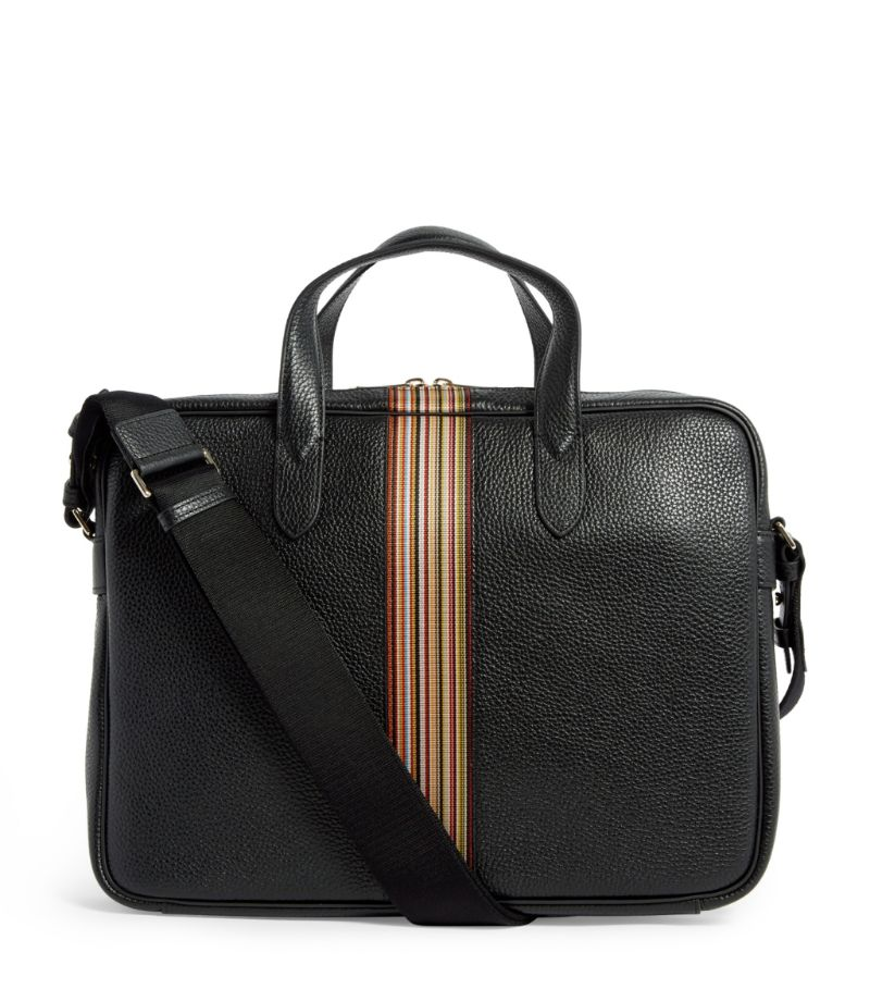 Paul Smith Leather Signature Stripe Briefcase