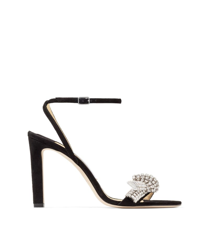 Jimmy Choo Thyra 100 Suede Sandals