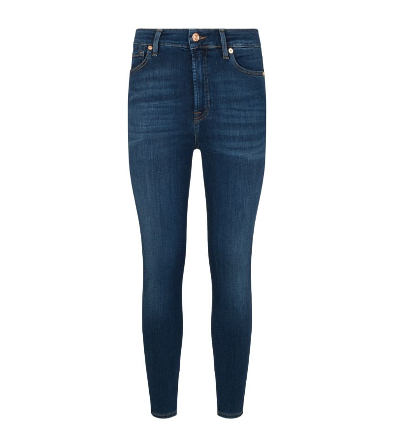 7 For All Mankind Aubrey Skinny Slim Illusion Jeans