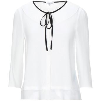 《セール開催中》CLAUDIE PIERLOT レディース シャツ ホワイト 36 ポリエステル 98% / ポリウレタン 2%