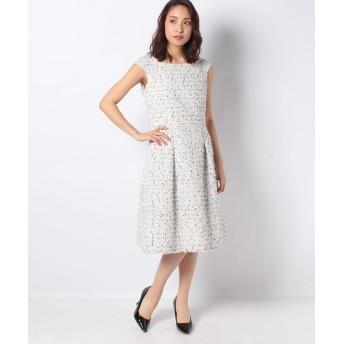 (MISS J/ミス ジェイ)【セットアップ対応】LINTONツィード ドレス/レディース ホワイト