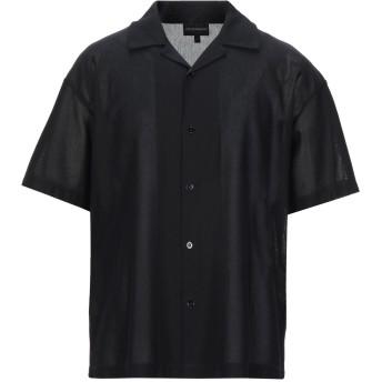 《セール開催中》EMPORIO ARMANI メンズ シャツ ブラック M コットン 100%