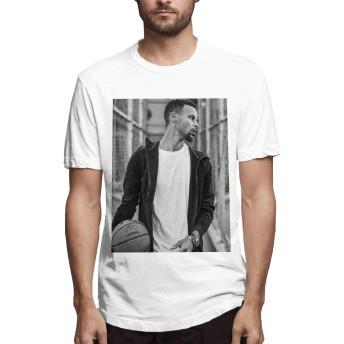 ステフィン・カリー ゴールデンステイト メンズ Tシャツ 人気 2020新型 プリント 100%コットン 半袖 インナーシャツ 夏季対応 トップス 軽い 柔らかい かっこいい おしゃれ カットソー スポーツ 丸襟 快適