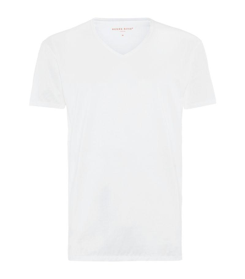 Derek Rose Lewis V-Neck Cotton T-Shirt