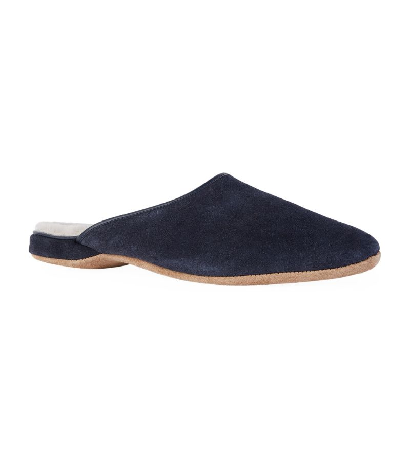 Derek Rose Suede Douglas Slippers