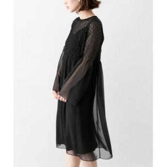 ROSSO(ロッソ) ワンピース ワンピース AVERY ROW SMOCKING SHEER DRESS【送料無料】
