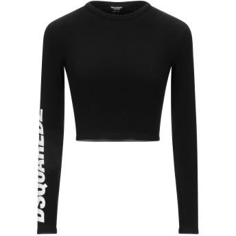《セール開催中》DSQUARED2 レディース アンダーTシャツ ブラック L コットン 82% / ポリウレタン 18%