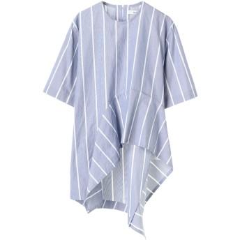 UJOH ウジョー フレアトリミング プルオーバー シャツ Flare Trimming PO シャツ・ブラウス,Blue