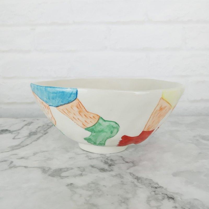 瓷器碗   七彩內褲碗
