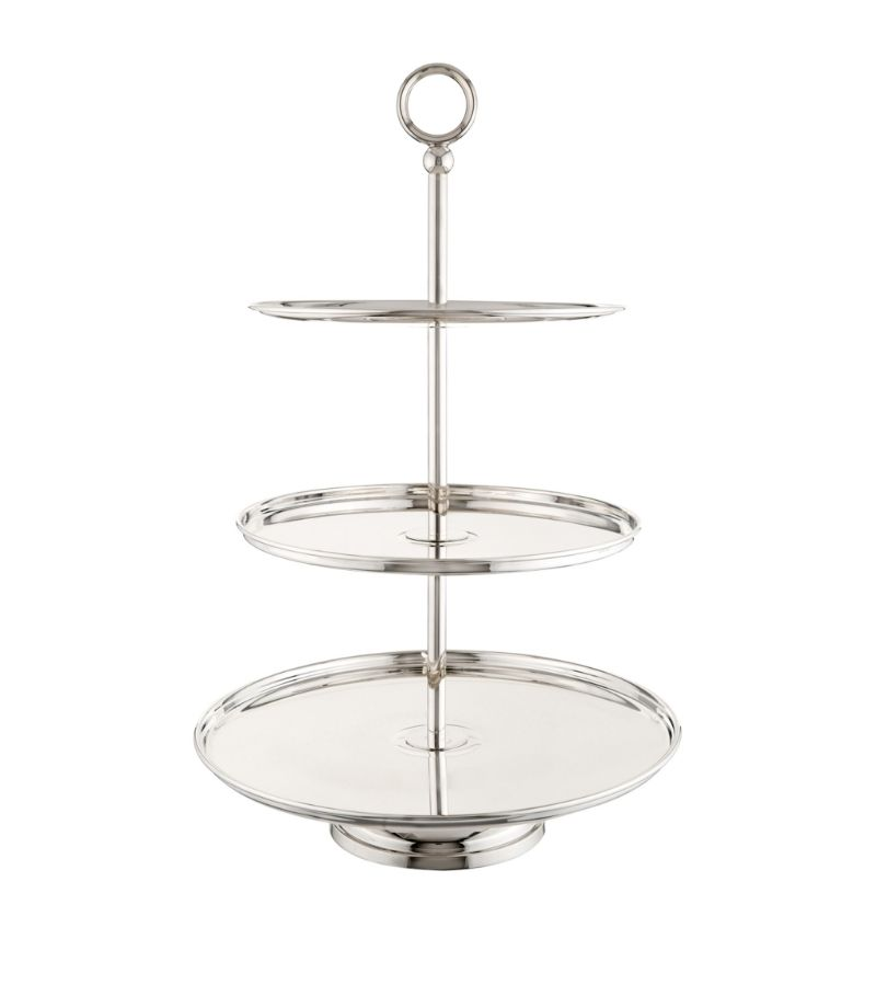 Greggio Silver-Plated Georgian 3-Tier Cake Stand