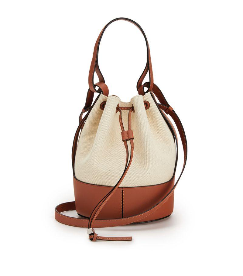 Loewe Leather And Canvas Balloon Bag