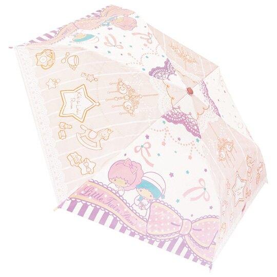 【領券折$120】 小禮堂 雙子星 彎把防風傘骨折疊傘《粉紫.睡衣》折傘.雨傘.雨具