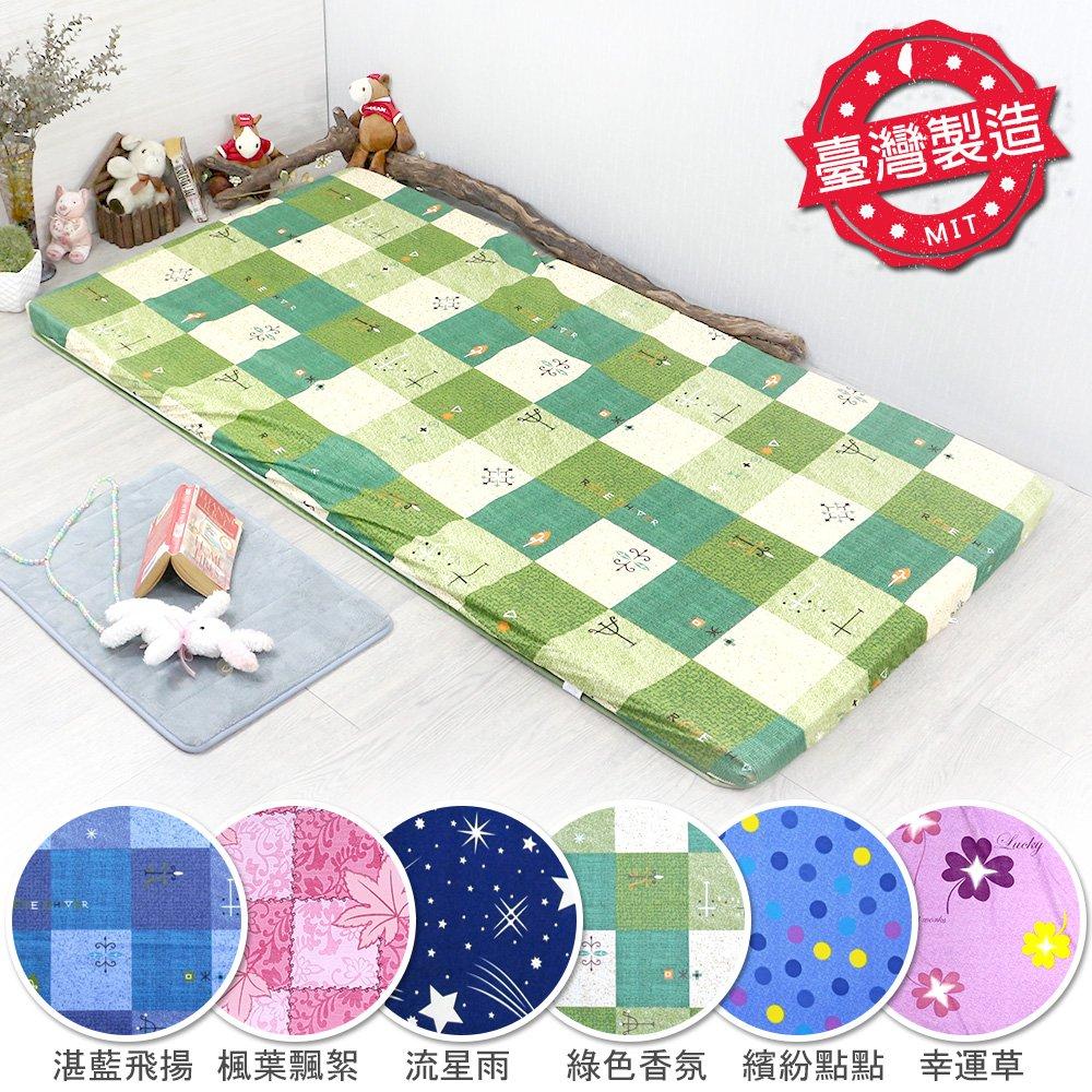 【職人手作】青竹高密度冬夏雙用途三摺立式床墊-單人