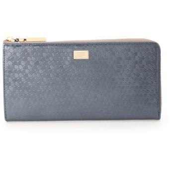 NATURAL BEAUTY(BAG) ナチュラルビューティ バッグシャイニードット 財布,ネイビー