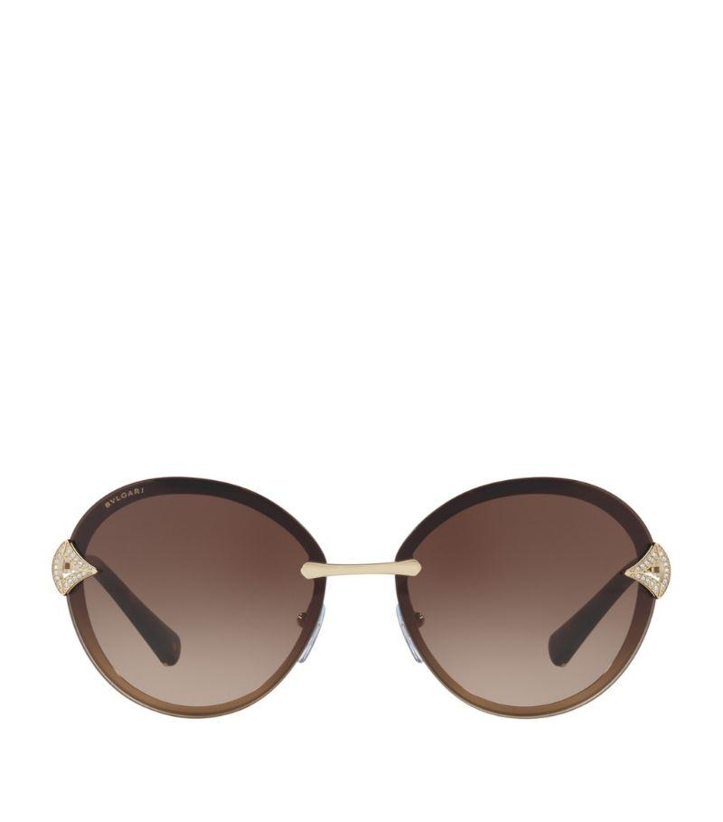 Bvlgari Oval Sunglasses