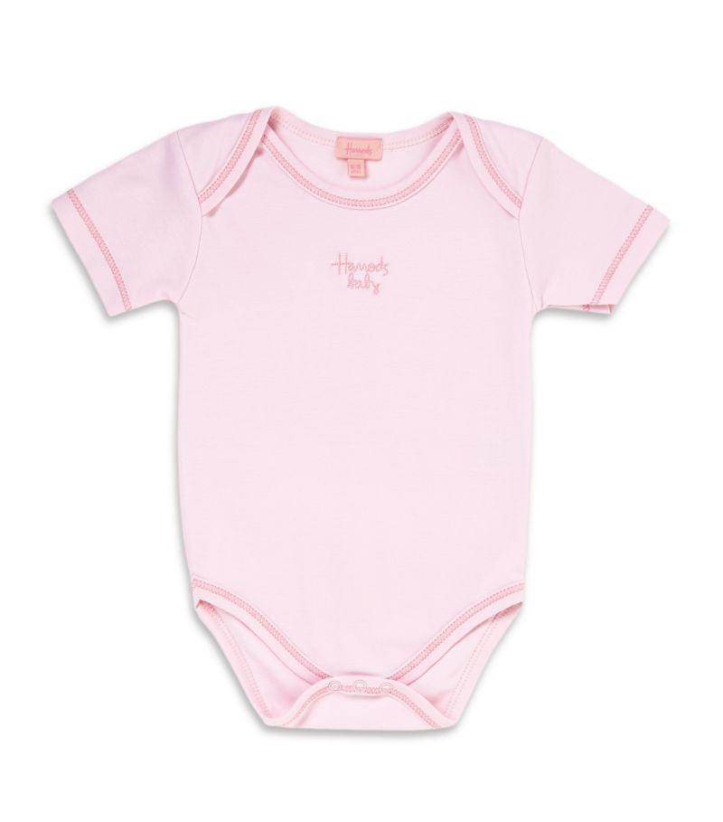 Harrods Of London Pima Cotton Plain Bodysuit (0-18 Months)
