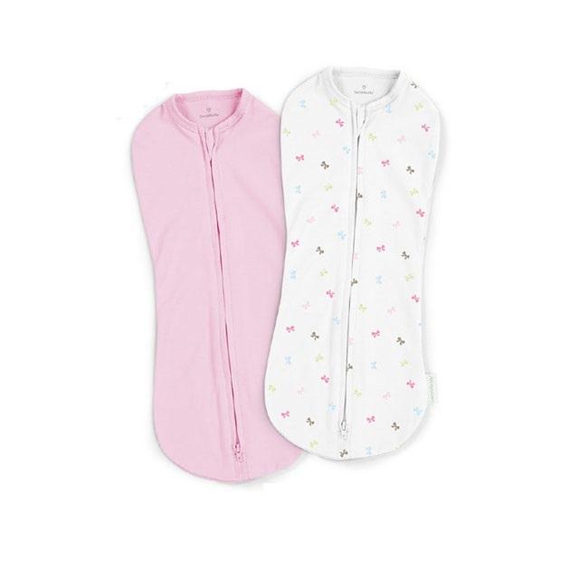 Summer Infant 聰明懶人小豆莢包巾2入組  優雅蝴蝶結