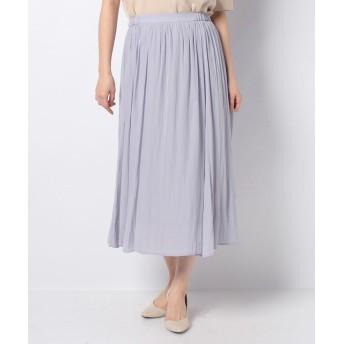 (Petit Honfleur/プチ オンフルール)割繊風ギャザーフレアースカート/レディース ラベンダー