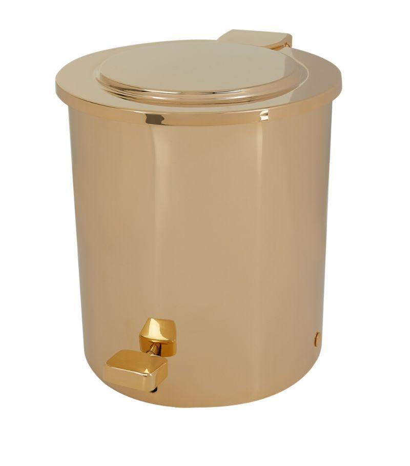 Zodiac Cylinder Gold-Plated Pedal Bin