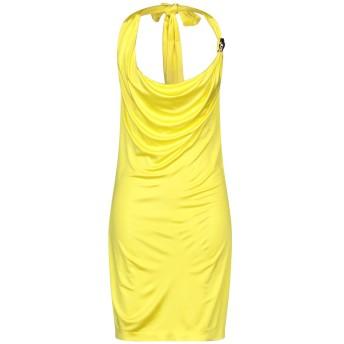 《セール開催中》CAVALLI CLASS レディース ミニワンピース&ドレス イエロー 42 レーヨン 100%