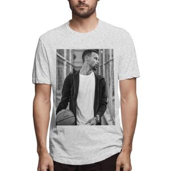 ステフィン・カリー ゴールデンステイト メンズ Tシャツ ファッション 2020新型 プリント 100%コットン 半袖 インナーシャツ 夏季対応 トップス 軽い 肌着 かっこいい おしゃれ カットソー スポーツ 丸襟 快適