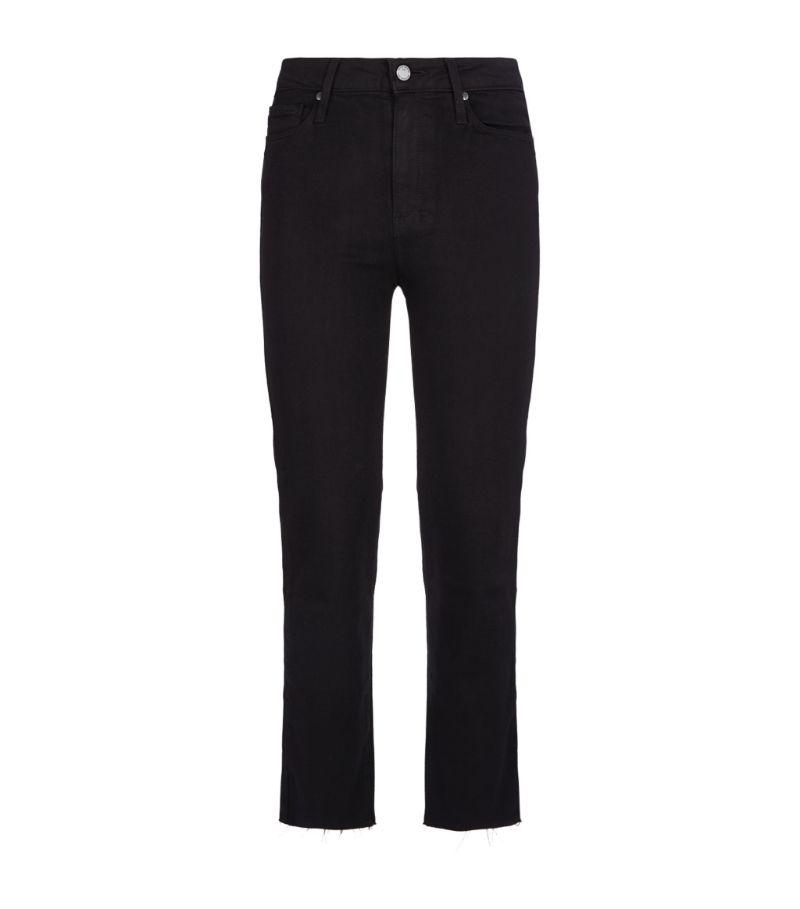 Paige Jacqueline Raw Hem Straight Jeans