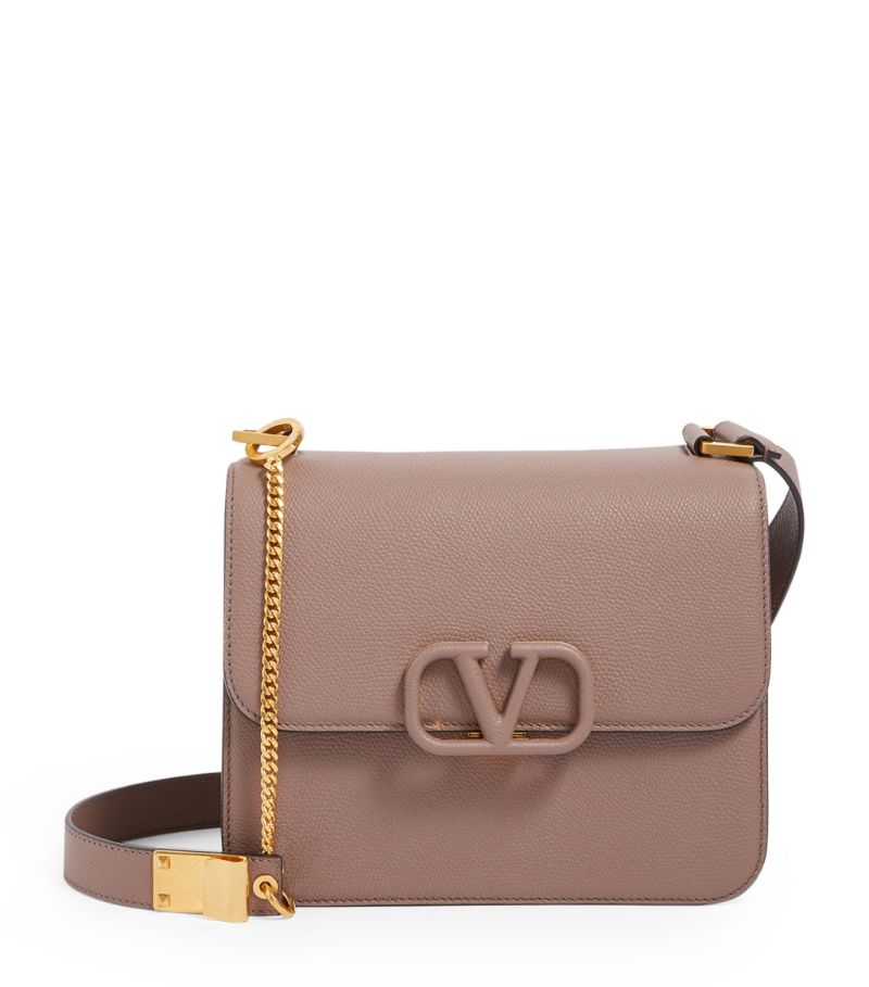Valentino Valentino Garavani Leather Vsling Shoulder Bag