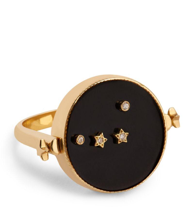 L'Atelier Nawbar Yellow Gold And Diamond Cosmic Love Aries Ring