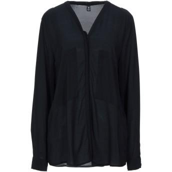 《セール開催中》EUROPEAN CULTURE レディース シャツ ブラック S レーヨン 92% / ポリウレタン 8%