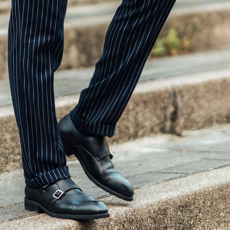 Gullar勇往雙釦孟克-素食皮鞋