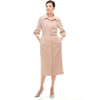 ベラデッソ ベルトアクセント バックサテン コートドレス