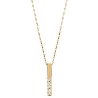 【テイクアップ】ダイヤモンド5セキバーネックレス(YG)