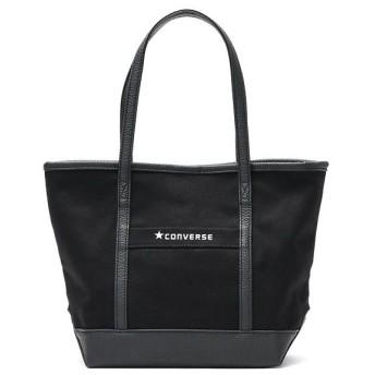 (CONVERSE/コンバース)コンバース トートバッグ CONVERSE バッグ Canvas×Fake Leather Small Tote Bag ミニトート キャンバス 小さめ 145/ユニセックス ブラック