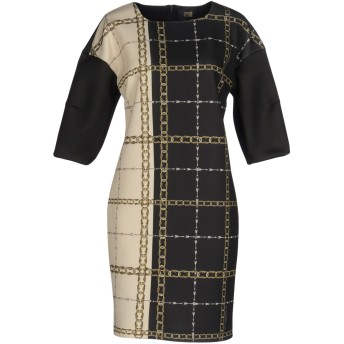 《セール開催中》CAVALLI CLASS レディース ミニワンピース&ドレス ブラック 44 ポリエステル 92% / ポリウレタン 8%