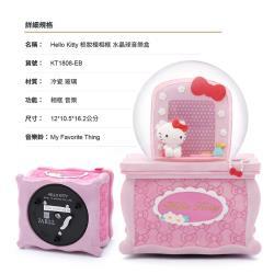 讚爾藝術 JARLL~三麗鷗 Hello Kitty 梳妝檯相框 水晶球音樂盒(KT1808) 生日禮物 居家擺飾 療癒小物 (現貨+預購)