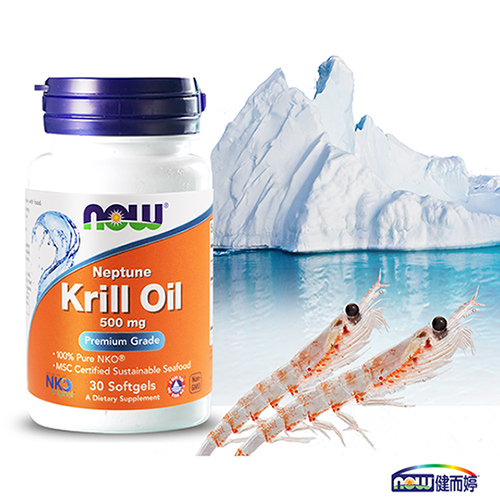 NOW健而婷 南極磷蝦油膠囊食品 1瓶30顆 x 3瓶