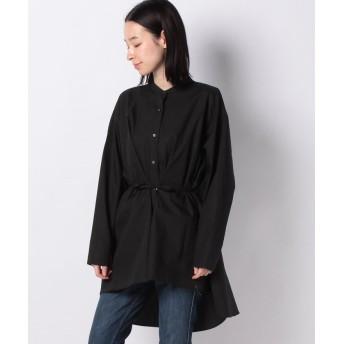 マーコート band collar flare shirt レディース BLACK f 【MARcourt】
