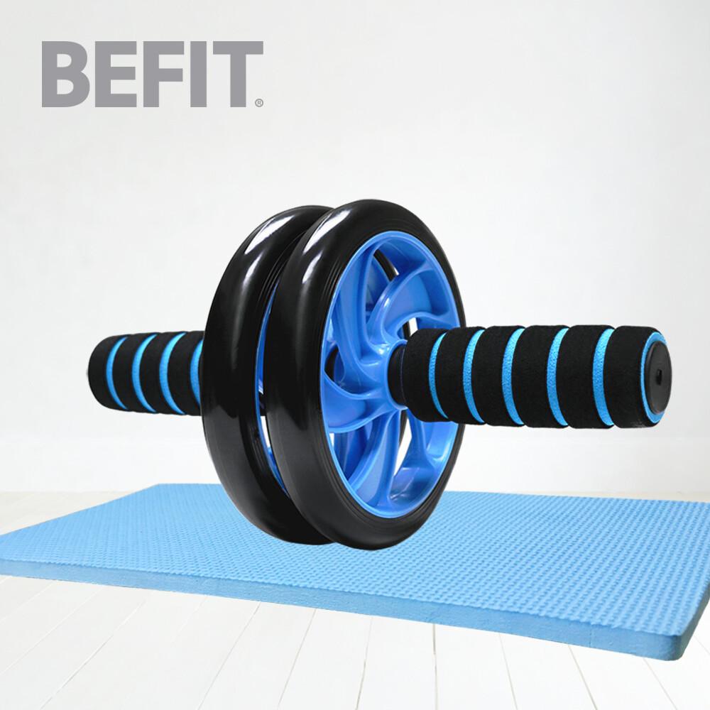 befit 星品牌健腹輪+跪墊 (健美輪/滾輪/健腹器/健身器材/腹肌/健身)