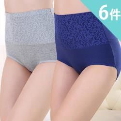 【莎邦婗】大尺碼高腰棉質緊緻修飾褲 6件組 (1049) 2XL-4XL